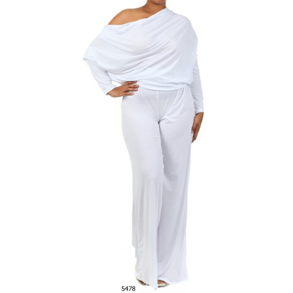 Pants Plus Size Multi Way White Womens Jumpsuit Romper Poshmark
